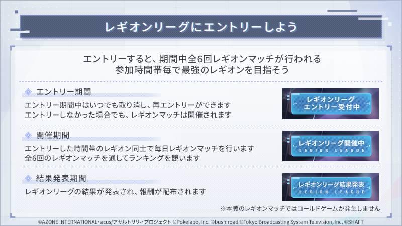 【ラスバレ】レギオンリーグ紹介がこれ!? 星7って大丈夫か・・?